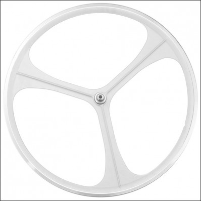 3-Spoke Voorwiel Wit