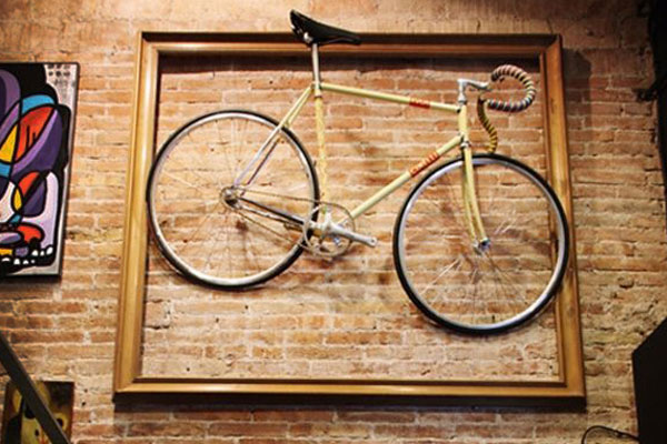 Bicycle on Brick Wall